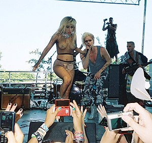 Lollapalooza - Image: Lady Gaga at Lollapalooza 2010