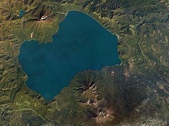 Mount Tarumae - Image: Lake Shikotsu, Hokkaido, Japan by Planet Labs