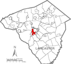 Lancaster Township, Lancaster County, Pennsylvania - Image: Lancaster Township, Lancaster County Highlighted