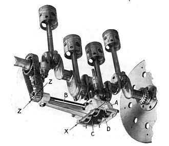 Balance shaft - Image: Lanchester patent harmonic balancer (Modern Motors, I) 031