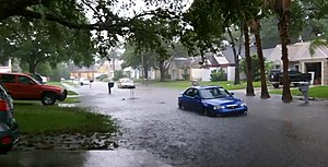 Tropical Storm Debby (2012) - A street flooding in Largo, Florida, during Debby.