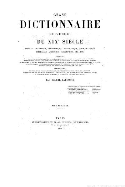 File:Larousse - Grand dictionnaire universel du XIXe siècle - Tome 13, part. 1, Pourpre-Pube.djvu