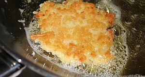 Potato latke made from Hairy Manischewitz bran...