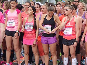Women's sports - Women get set to run for an awareness event in Netherlands, 2014
