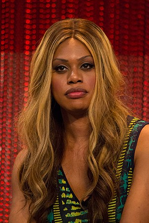 Laverne Cox - at PaleyFest 2014, representing Orange Is the New Black.