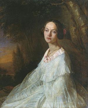 Yulia Zhadovskaya - Portrait by Nikolay Lavrov, 1845.