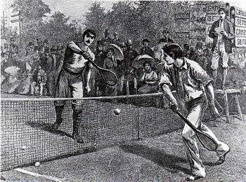 Lawford vs Renshaw, Wimbledon in the 1880s.jpg