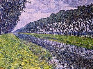 <i>Le canal en Flandre par temps triste</i> The van Rysselberghe