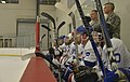 Leadership coaches Blue vs. White Fairchild hockey teams 141004-F-ES117-222.jpg