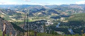 Leavenworth, Washington - Image: Leavenworth from above