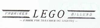 The Lego Group - Image: Lego Logo 1936