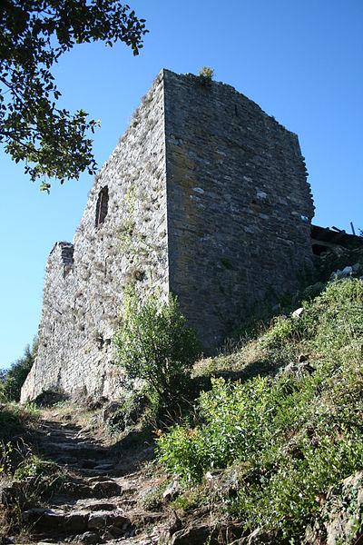 Les Aires (Hérault) - château de Mourcairol.
