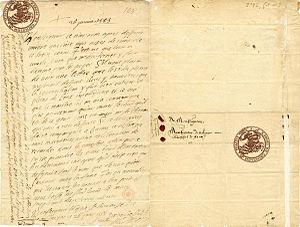 Lettre de Montaigne au maréchal de Matignon, 26 janvier 1585.jpg