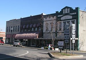 Lewisburg, Tennessee - The town square in Lewisburg