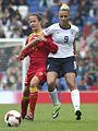 Lianne Sanderson England Ladies v Montenegro 5 4 2014 603.jpg