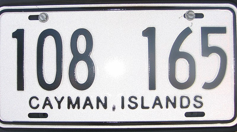 File:License plate Cayman Islands.jpg