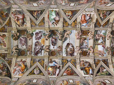 Genios de la Pintura, Escultura... 450px-Lightmatter_Sistine_Chapel_ceiling