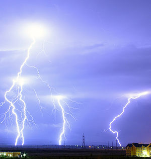 Electron - Image: Lightning over Oradea Romania cropped