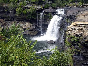 English: Little River Falls in the Little Rive...
