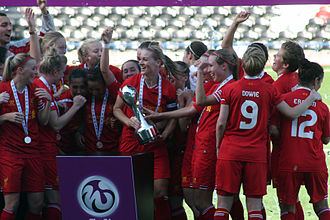 Liverpool F.C. Women - Celebrating the 2013 FA WSL win