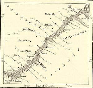 Livingstone Falls - Livingstone falls map