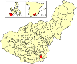 Location of Albondón