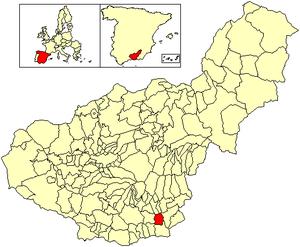 Albondón - Image: Location Albondón