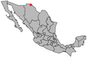 Location map of Ciudad Juárez.