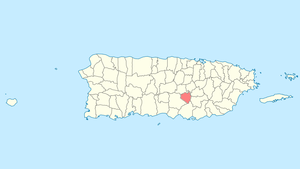 Location of Aibonito in Puerto Rico