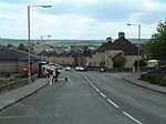 Lochore. The north end of the main street in Lochore