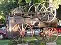 Locomóvil agrícola, fabricado por Marshall hacia el año 1900, expuesto en Talagante, Chile.jpg