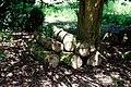 Log pile wood stack Easton Lodge Gardens, Little Easton, Essex.jpg