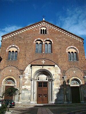 Basilica of San Simpliciano - Façade of San Simpliciano.