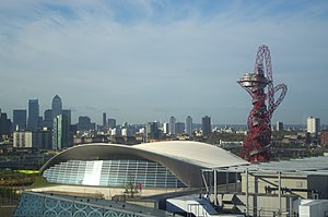 London Aquatics Centre - The Aquatics Centre seen after the games, without the temporary wings.