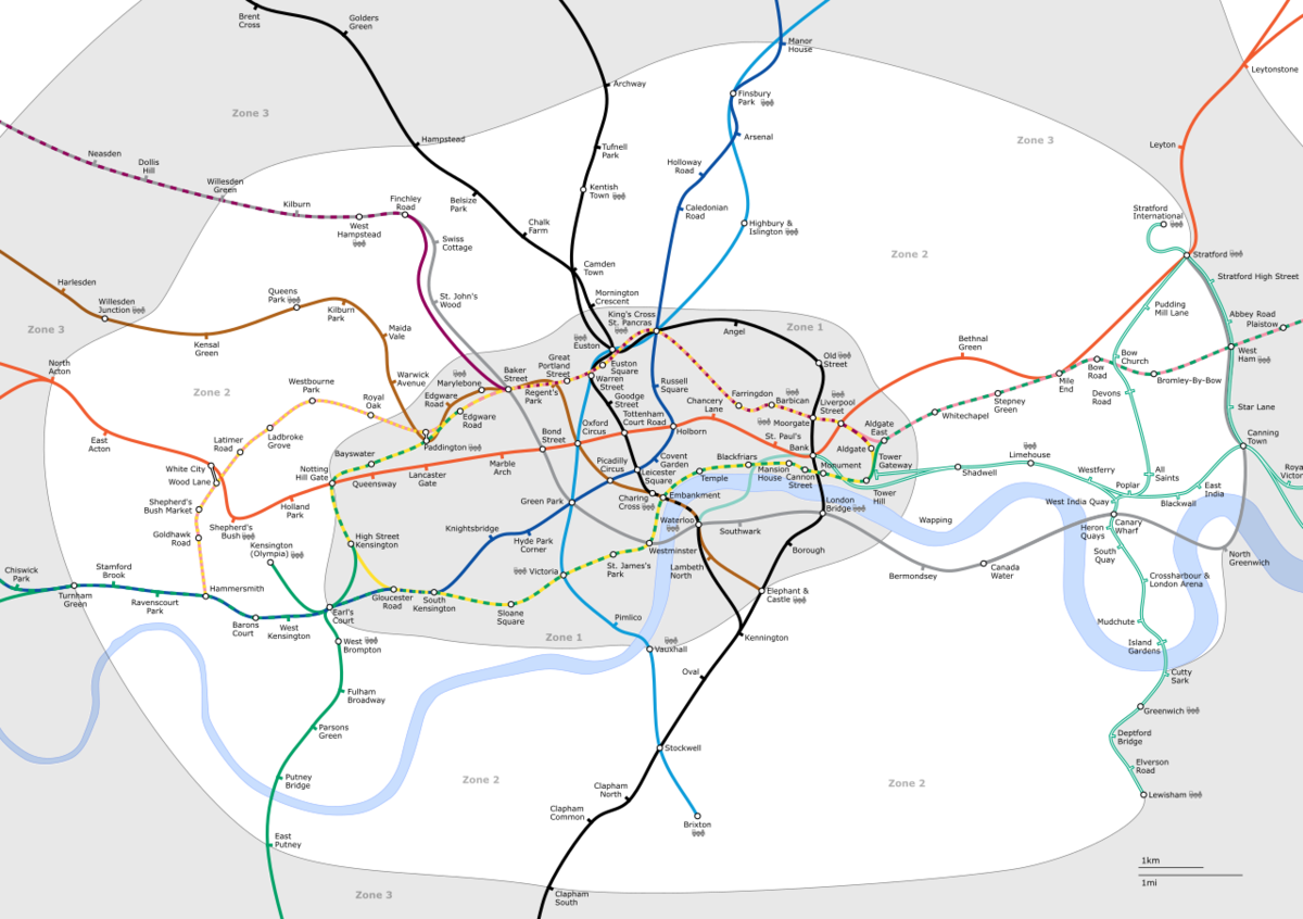 List Of Stations In London Fare Zone 2 Wikipedia