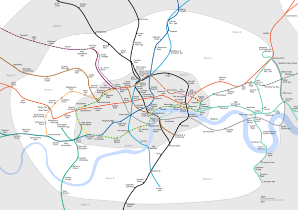london underground zones. Travelcard Zone 2