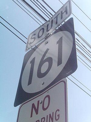 New Jersey Route 161 - Route 161's lone southbound shield at Van Houten Avenue