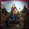 Lorenzo di credi (bottega) e pittore nordico, madonna col bambino e santi, 1500-10 ca., da s. pietro al terreno a brollo 01.JPG