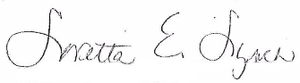 Loretta Lynch - Image: Loretta Lynch signature