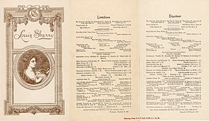 Hotel New Netherland - A 1917 menu for the Louis Sherry restaurant in the Hotel Netherland