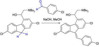 Knoevenagel condensation - Final step in Lumefantrine synthesis