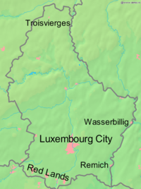 Luxembourg World War I labelled