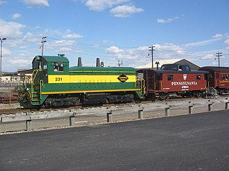 Lycoming Valley Railroad - Image: Lycoming Valley Railroad Engine 231