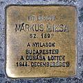 Márkus Miksa stolperstein (Budapest-07 Nyár u 28).jpg