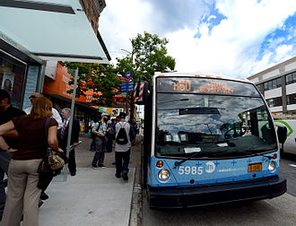 M60 (New York City bus) - A M60 Nova Bus in Manhattan, during the debut of SBS service in May 2014