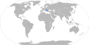 M79 Osa - Map with M79 operators in blue and former operators in red