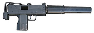 Title II weapons - A MAC-10 with a silencer. The silencer is treated as a Title II weapon or NFA firearm itself; the firearm to which the silencer is attached maintains its separate legal status as Title I or Title II.