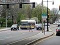 MBTA route 66 bus in Brookline Village, April 2017.JPG