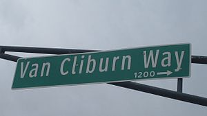 Van Cliburn - Image: MVI 2791 Van Cliburn in Fort Worth Cultural District