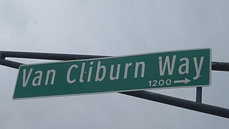 Van Cliburn - Van Cliburn Way in the Fort Worth Cultural District